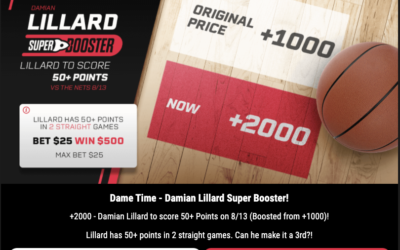 It's Dame Time. Plus $10 Homers, $5 Goals and $100 Free Bets For UFC 252.