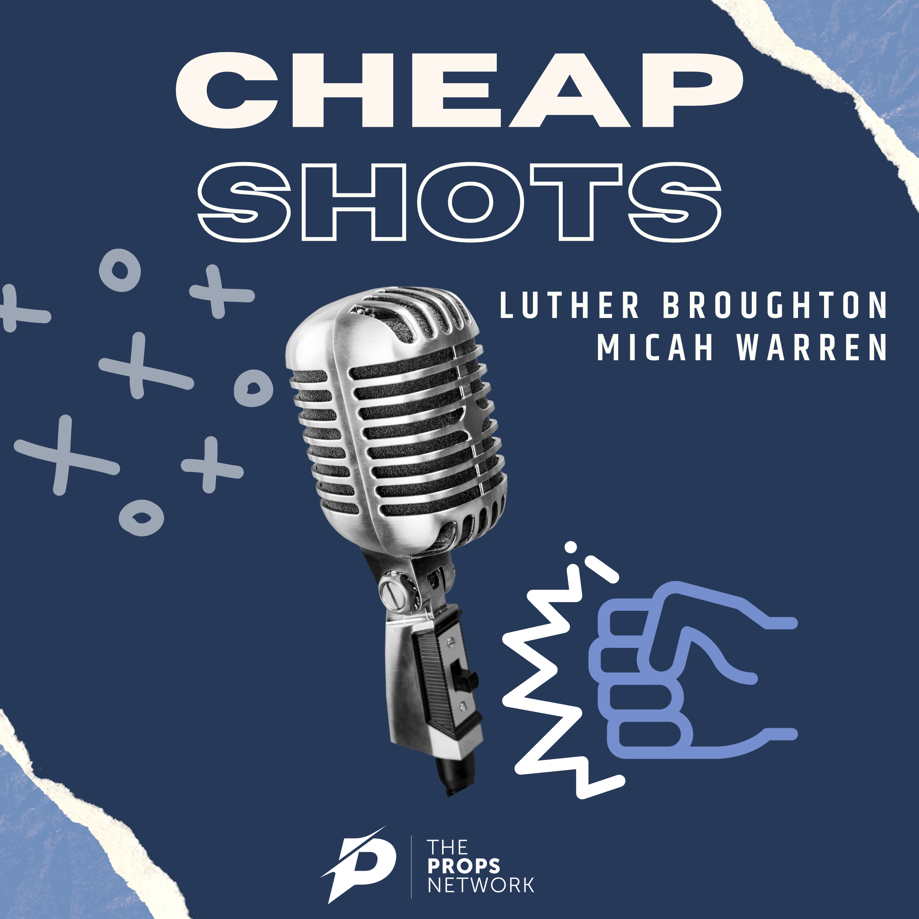 Official cover art for cheap shots podcast